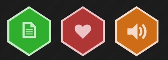 CSS Hexicons